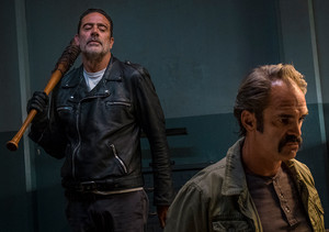 Jeffrey Dean morgan as Negan in 8x15 'Worth'