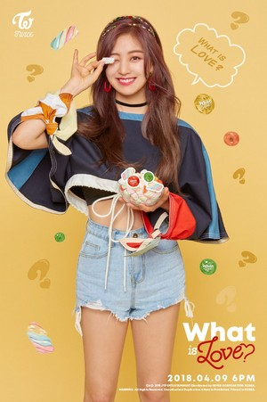 "Jihyo's teaser image for ""What is Love?"""