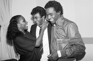 Johnny Mathis Backstage With Patti LaBelle And Al Green