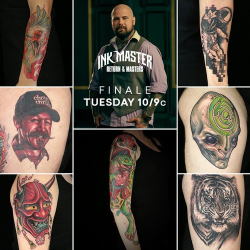 Ink Master wallpaper titled Josh Payne | Team DJ | Ink Master: Return of the Masters