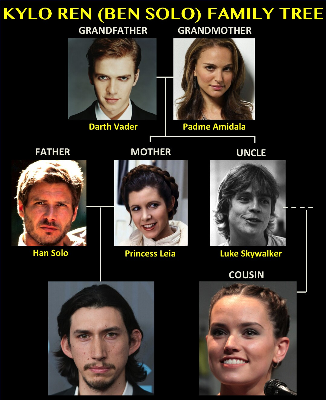 Kylo Ren (Ben Solo) Family Tree