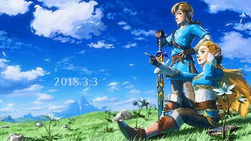 The Legend of Zelda wallpaper called Link and Zelda