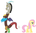 MLP Fanart Fluttershy and Discord Angry - my-little-pony-friendship-is-magic fan art