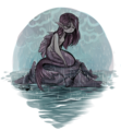 Mermaid in the Rain - mermaids photo