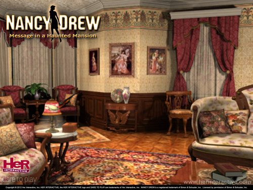 Nancy Drew games 바탕화면 titled Message in a Haunted Mansion