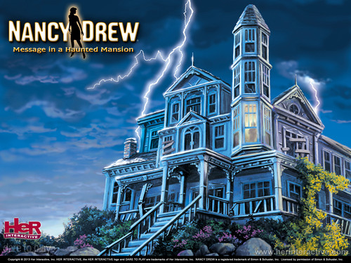 Nancy Drew games 바탕화면 entitled Message in a Haunted Mansion