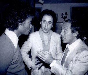 Michael Talking With Paul Anka And David Geffen