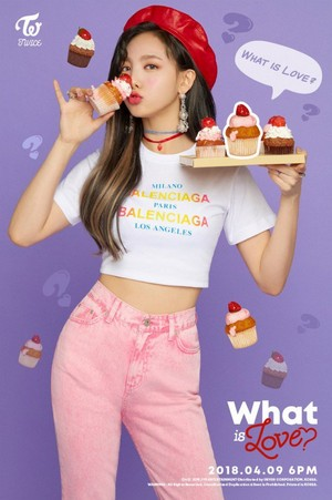 "Nayeon's teaser image for ""What is Love?"""
