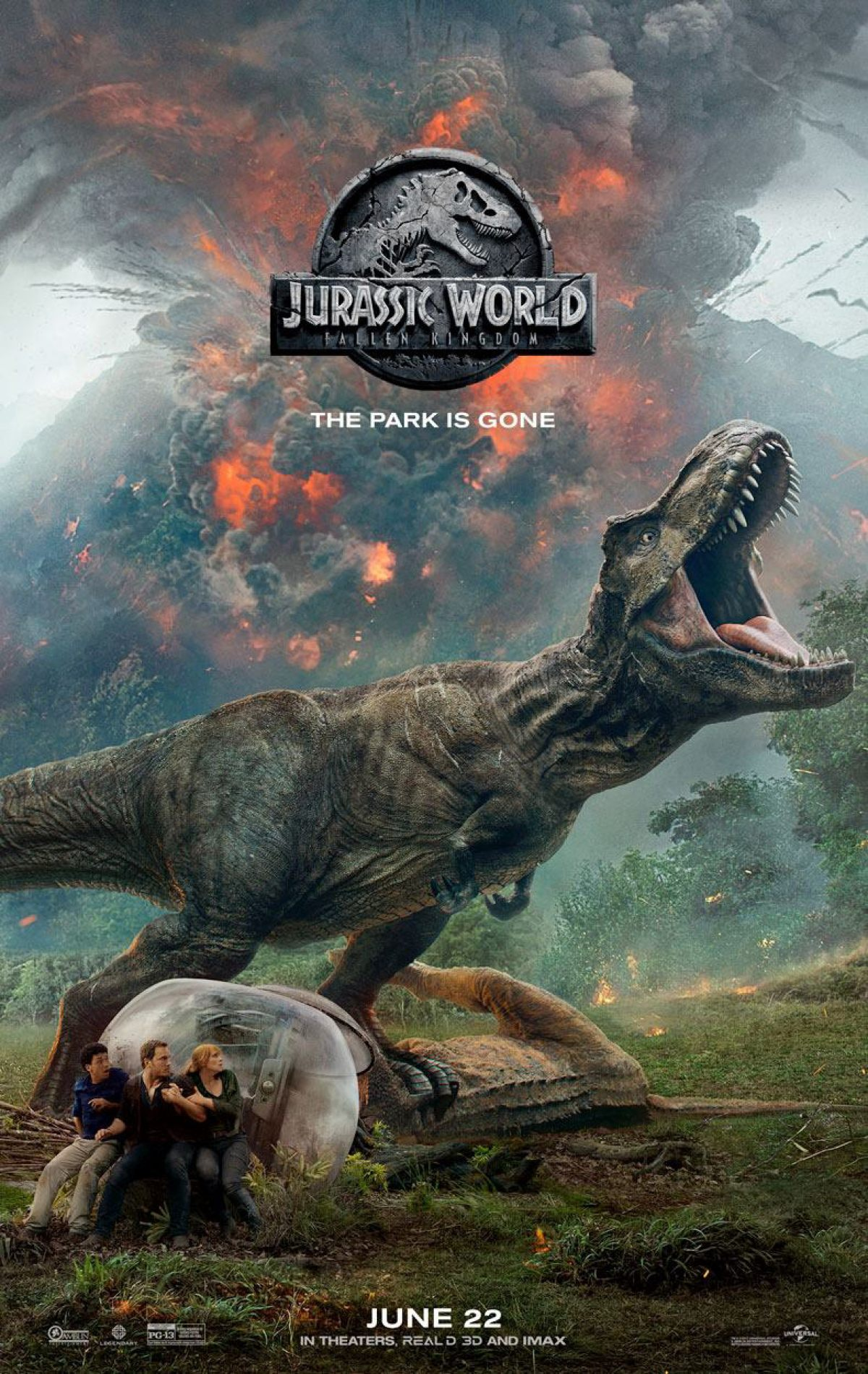 New Poster Of Jurassic World: Fallen Kingdom With Rexy