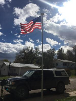New flagpole