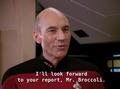 Picard calls Barclay