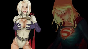 Power Girl vs Supergirl 2  wallpaper