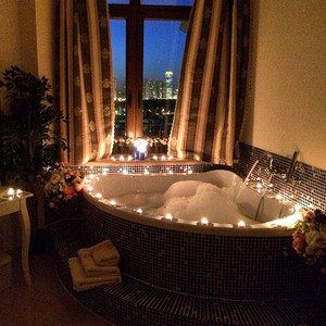 Romantic bubble bath