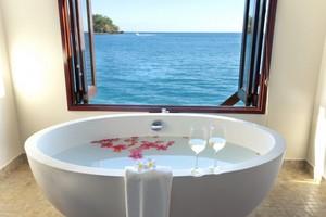 Romantic bubble bath