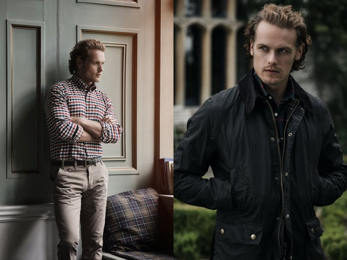 look out for great look sale Sam Heughan at Barbour Photoshoot - Sam Heughan фото ...