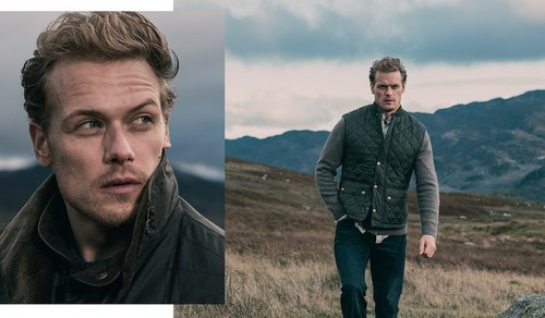 Sam Heughan wallpaper titled Sam Heughan at Barbour Photoshoot