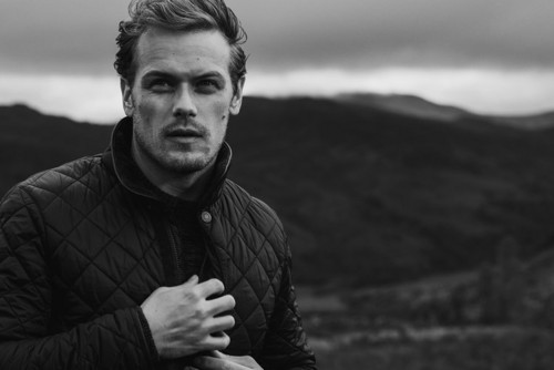 Sam Heughan wallpaper entitled Sam Heughan at Barbour Photoshoot