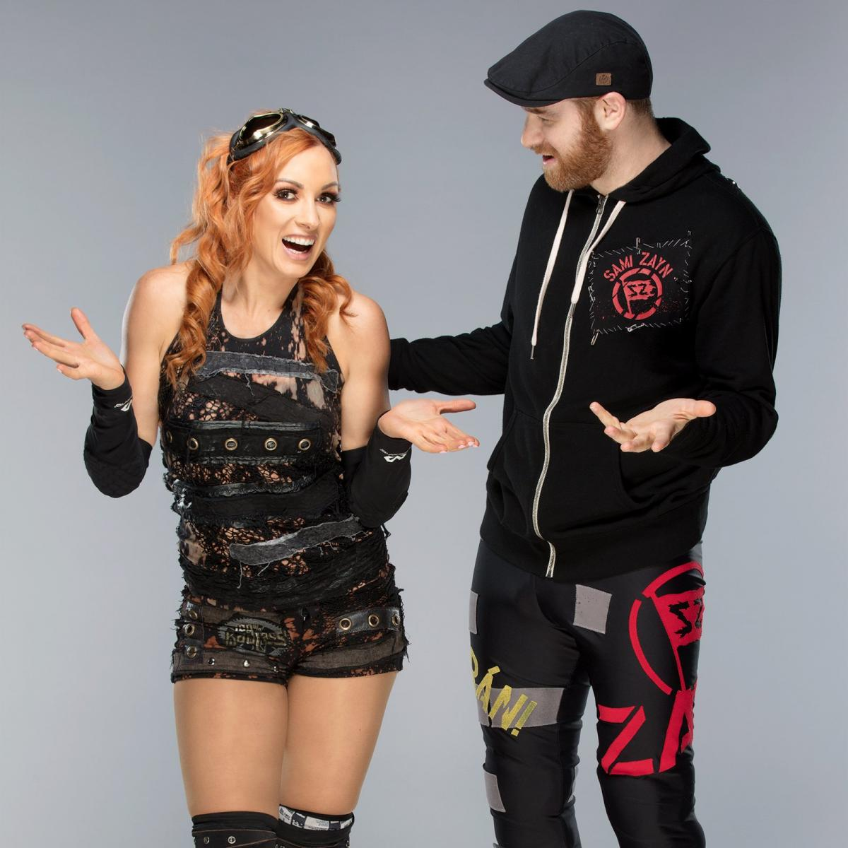 Wwe Images Sami Zayn And Becky Lynch Hd Fond Décran And Background