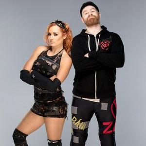 Sami Zayn and Becky Lynch
