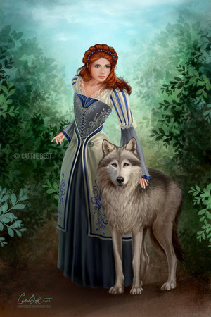 Sansa and Lady por CarrieBest