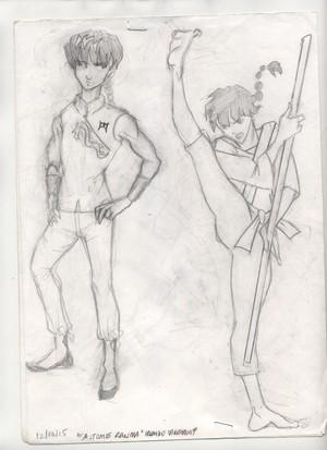 Saotome Ranma (sketch)