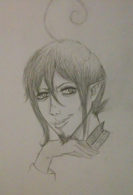 Semi-realistic Mephisto drawing