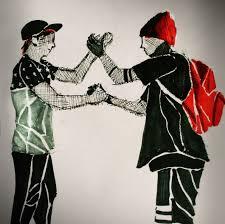 Skeleton Clique handshake