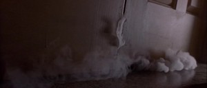 Smoke under door