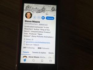 Steve Moore follows me on Twitter!
