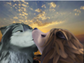 Sunset Kiss - humphry-from-the-movie-alpha-and-omega fan art