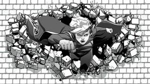 Supergirl वॉलपेपर Hitting The Bricks