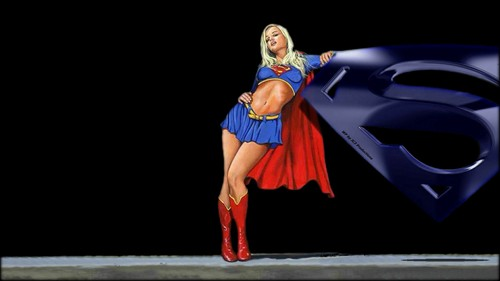 DC Comics wallpaper entitled Supergirl Wallpaper   Just  Chillin