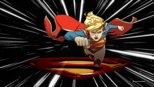 Supergirl kertas dinding Light Speed