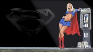 Supergirl Wallpaper Under A Street Light