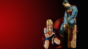 スーパーマン and Supergirl 壁紙 Defeated