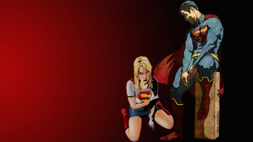 DC Comics wallpaper entitled Superman and Supergirl Wallpaper   Defeated