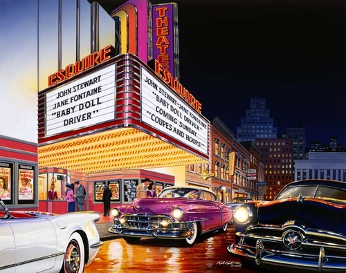 The 50 S Images The Esquire Theater Fond D Ecran And