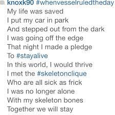 The Skeleton Clique poem