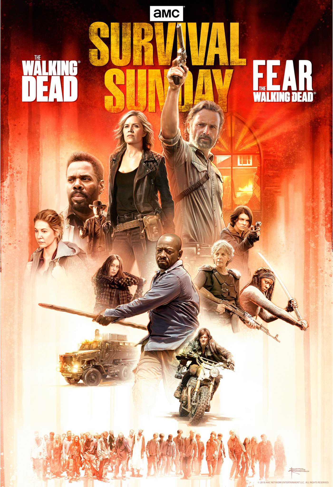 The Walking Dead/Fear the Walking Dead Crossover: Survival Sunday Poster