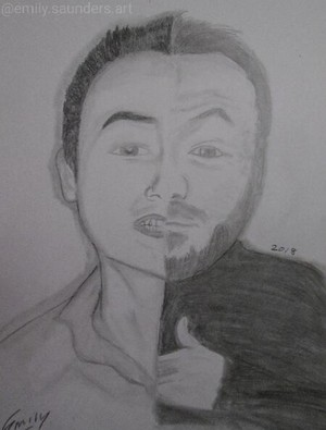 Tyler Boronski Joe Davison Fan Art Drawing