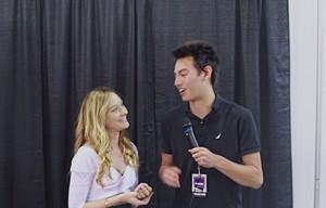 Tyler Boronski interviewing Chelsea Talmadge
