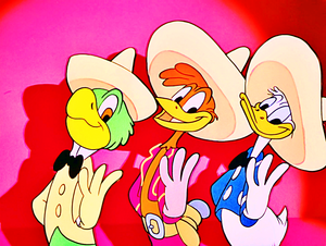 Walt Disney Screencaps – José Carioca, Panchito Pistoles & Donald pato