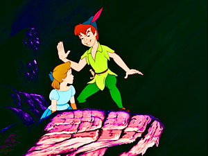 Walt Disney Screencaps – Wendy Darling & Peter Pan