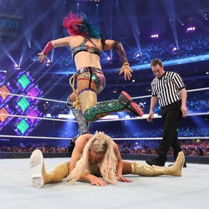 Wrestlemania 34 ~ charlotte Flair vs Asuka