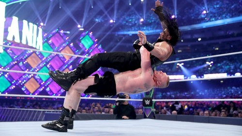 WWE wallpaper called Wrestlemania 34 ~ Roman Reigns vs Brock Lesnar