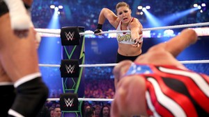 Wrestlemania 34 ~ Stephanie/Triple H vs Ronda/Kurt