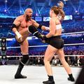 Wrestlemania 34 ~ Stephanie/Triple H vs Ronda/Kurt - wwe photo