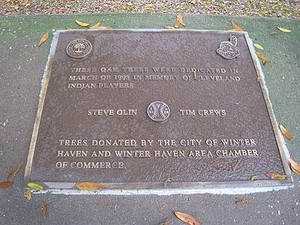 Memorial Plaque To Steve Olin And Tim Crews