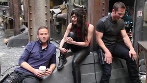 on set with stars -killjoys