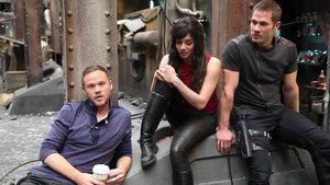 on set with stars -killjoys